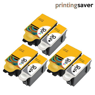 6 INK CARTRIDGE FOR KODAK 30 XL ESP C315 C310 C110 C115 1.2 3.2 Hero 3.1 5.1