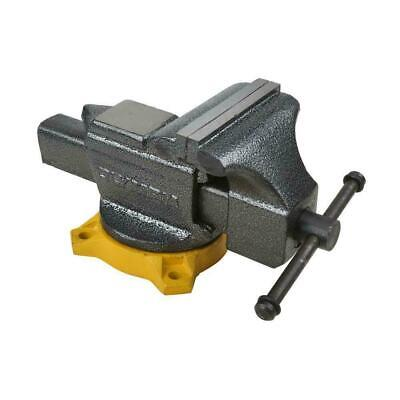 6 in. Bench Vise Tool Replaceable Hardened Steel Jaw Faces S