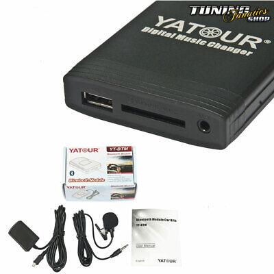 Para Renault Radio Carminat Bluetooth USB MP3 Cambiador De CD Manos Libres