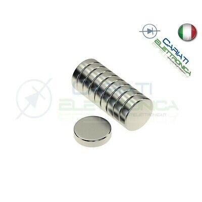 50 Pezzi CALAMITE MAGNETI NEODIMIO 10mm 10X2 mm POTENTI FIMO CERAMICA BOMBONIERE