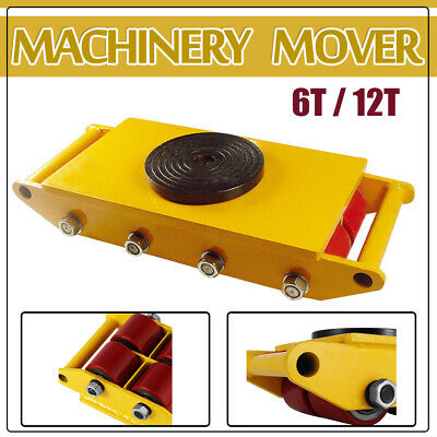 13200lbs 26400lbs Machinery Mover Roller Dolly Skate W360 Swivel Top Plate
