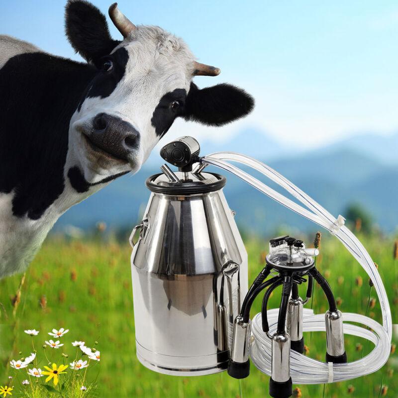 Cow Milker Milking Bucket  Dairy Portable Tank Barrel Stainless Steel Milk