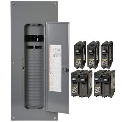Square D Homeline 200-Amp 80-Circuit 40-Space Main Breaker Electrical Panel, NEW