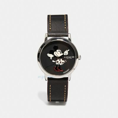 New Disney X Coach W1556 Chelsea Watch With Minnie Mouse Black 32mm