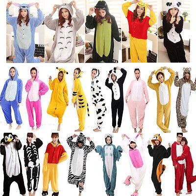 Hot Unisex Adult Pajamas Kigurumi Cosplay Costume Animal Onesie Sleepwear