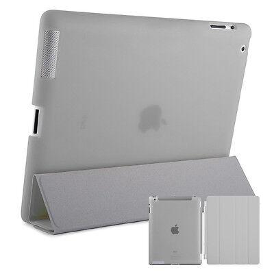 Smart Schutz Hülle iPad 2 3 4 Case Cover Aufstellbar Ständer Schale Etui Grau usato  Spedire a Italy