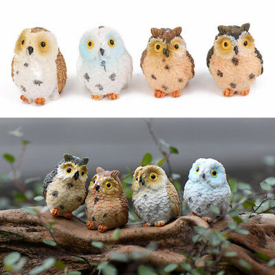 Fashion Owl Garden Ornament Craft Moss Miniature Figurine Plant Decoration - Miniature Owl