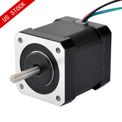 Us Ship Double Shaft Nema 17 Stepper Motor 1.68a 45ncm Bipolar 4-wires Diy Cnc