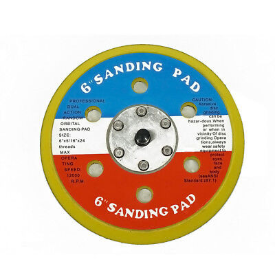 """TGR 6"""" Hook and Loop SANDING PAD FOR DA SANDER PALM D/A  with 5/16""""24 Threads"""