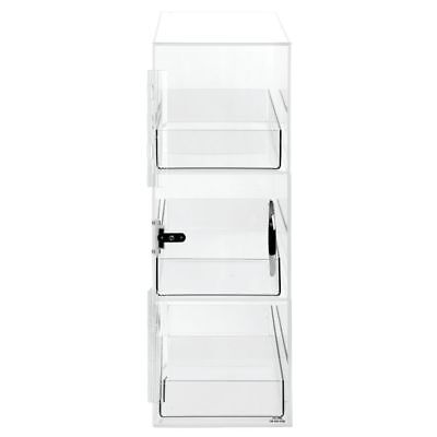 Cal-mil Bread Display Case 3-tier Clear Plastic - 7l X 17w X 20h 1204p-12