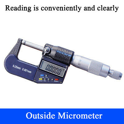 0.001mm//0.00005/'/' LCD Digital Micrometer Caliper Head Box Set 0-1/'/'//0-25 mm