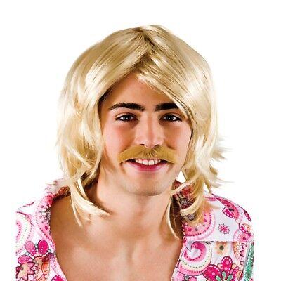 Gameshow Männer-perücke & Schnurrbart Satz Blond Promi Anzeigen - Blonde Schnurrbart Kostüm
