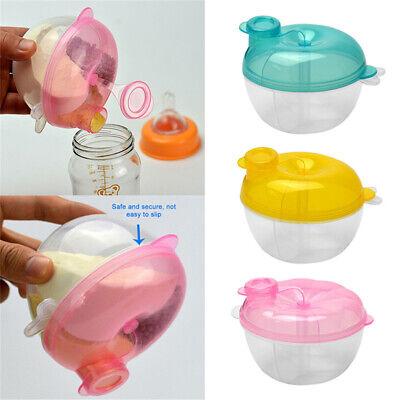 Baby Formula Milk Powder Dispenser 3 Section Container Bowl Storage Outdoor