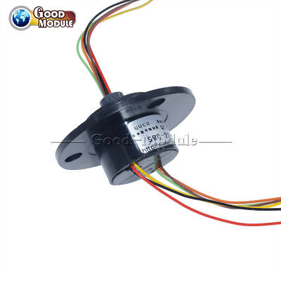 22mm 6 Conductors 6 Wires Capsule Compact Slip Ring 220v Ac 250rpm Cctv Monitor
