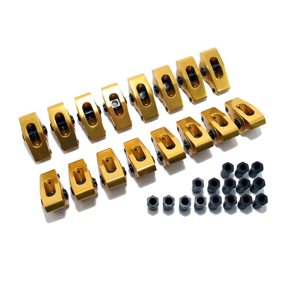 "Aluminum Roller Rocker Arms SBC Small Block Chevy 350 400 7//16/"" Stud 1.5 Ratio"