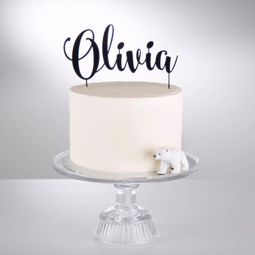 PERSONALISED NAME /& COLOUR DISNEY FONT CAKE TOPPER birthday decoration party