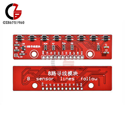 8 Channel Lines Follow Tracking Sensor Module 8ch Ir Infrared Detector Smart Car