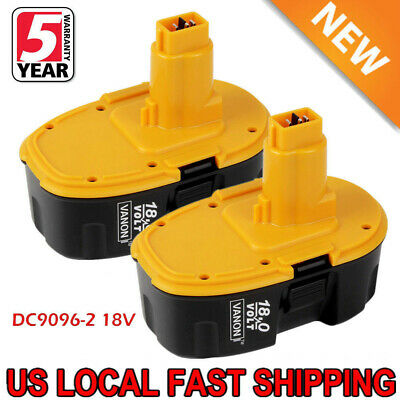 2XUpgraded For Dewalt 18V XRP Battery DC9096-2 DC9098 DC9099 DW9095 DW9096 Drill ()