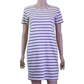 Dress for Women Casual Stripes Black and White - Grey and White
