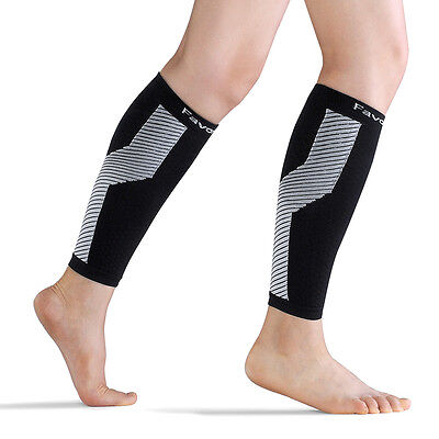 Calf Compreesion Sleeves(1 Pair) - Performance Leg Compression Socks (Size: S)