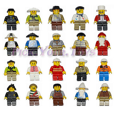 Random Lot Of 20 PCS Men People Minifigures Building Toys Minifig Grab Party Bag