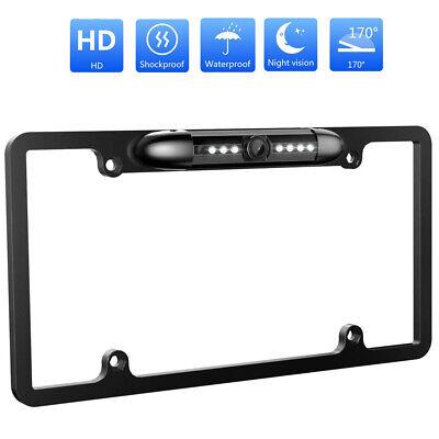 Metal US License Plate Frame Rear View Backup Camera Night Vision For Reversing