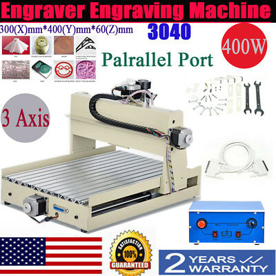 Cnc Router Engraving Machine Engraver 3040 3 Axis Desktop Wood Carving 400w