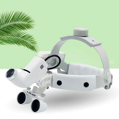 Dental Headband Magnifier 3.5x Medical Surgical Binocular Loupes Led Headlight