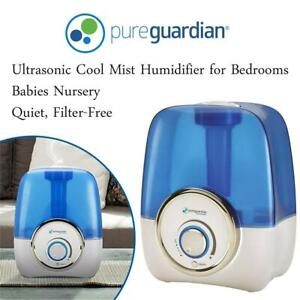 NEW PureGuardian H1210 Ultrasonic Cool Mist Humidifier for Bedrooms, Babies Nursery, Quiet, Filter-Free, 9L Output Up...
