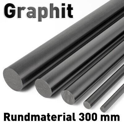 Graphitstab ø 9 - 25 mm, Länge 300 mm Graphitelektrode Anode Rundmaterial Carbon Japan Carbon