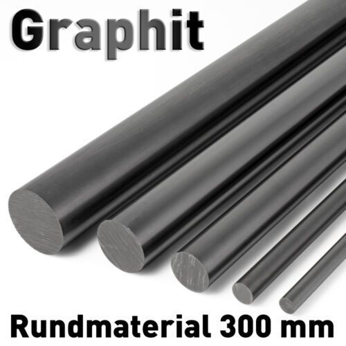 Graphitstab ø 6 - 8 mm x Länge 300 mm Graphitelektrode Anode Rundmaterial Carbon