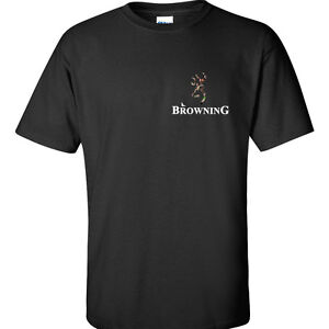 Big 3x 4x 5x mens t shirt browning t shirt camo left chest for Size 5x mens dress shirts