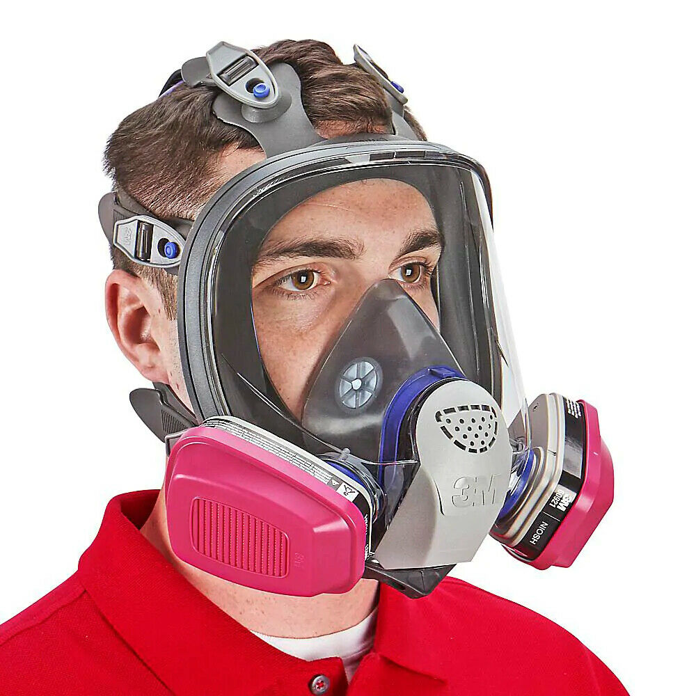 3M FF-401 Ultimate FX Full Face Respirator & 1 PR 60921 OV/P1OO Cartridge SMALL Business & Industrial