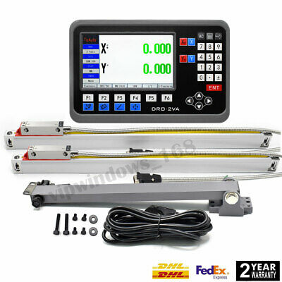 Linear Scale 12 36 Digital Readout 2axis Lcd Dro For Bridgeport 9x42 Table
