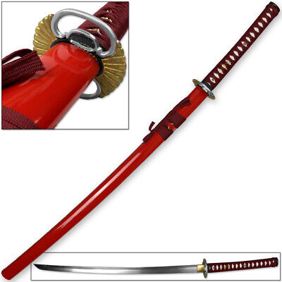 Kenpo Full Tang Blood Lust Katana 1045 HC Steel Japanese Samurai Sword Functiona