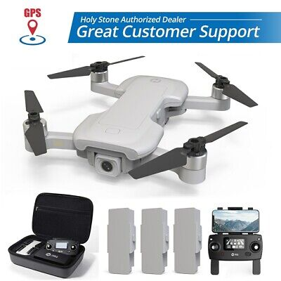 Godly Stone HS510 GPS Drone 4K Wifi Camera Quadcopter Brushless 3 Batteries +Case