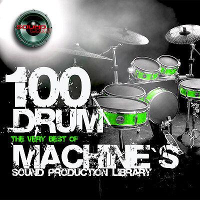100 DRUM MACHINES - the best Original WAVEs Studio Samples Library