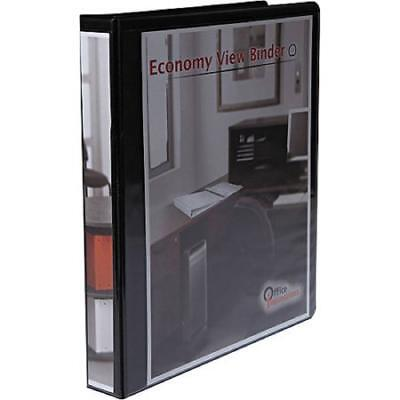 New Office Impressions Economy Round Ring View Binder 1 Capacity Black Wa11