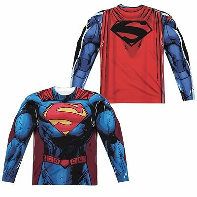 New 52 Costumes (Superman Superman New 52 Uniform Costume Sublimation Long Sleeve)