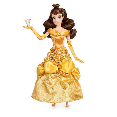 Disney Store Belle w/ Chip Figure Beauty and the Beast Poseable Toy Doll NIB !