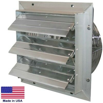 10 Shutter Exhaust Fan - 630 Cfm - 115v - 18hp - 1 Ph - 3 Speed - Direct Drive