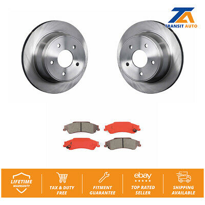 Rear Disc Rotors & Semi-Metallic Brake Pads Fits Chevrolet S10 Blazer GMC Sonoma