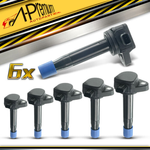 A-Premium 6x Ignition Coil For Acura RL TSX TL Honda
