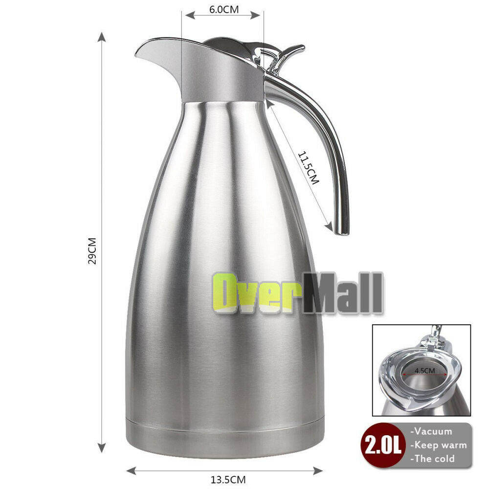 68oz 2l Stainless Steel Vacuum Insulated Thermal Carafe
