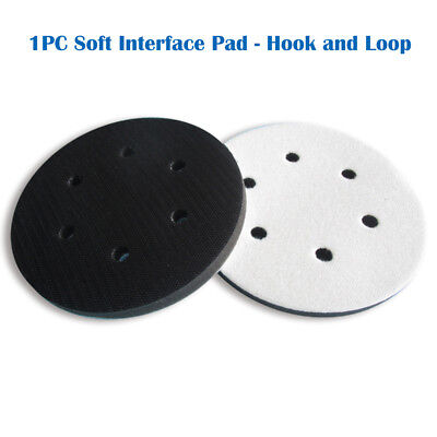 6 6-hole Soft Interface Pad Hook Loop Soft Foam Disc Protecting Sanding Disc
