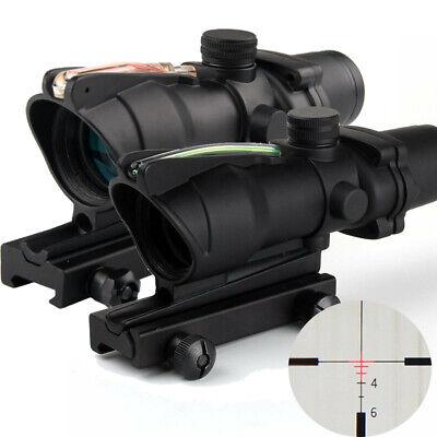 ACOG 4X32 Green Red Real Fiber Scope illuminated Crosshair Optics Cross-Reticle