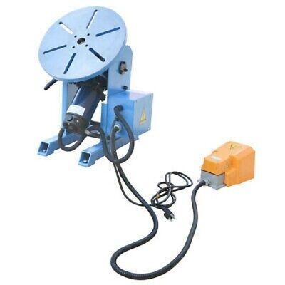 0-135° Welding Positioner Welder Turn Table Tilt Foot Pedal 771- 265 lbs Cap.110