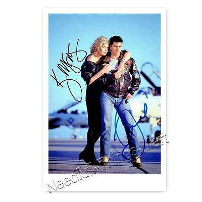 Tom Cruise & Kelly McGillis in Top Gun - Autogrammfotokarte laminiert 