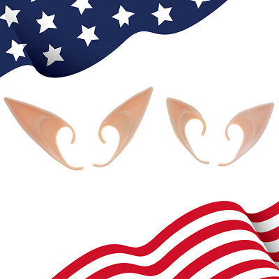 2 Pairs Latex Pixie Elf Fairy Costume Tip Ears Masks For Cosplay FAST Delivery](Costumes Fast Delivery)