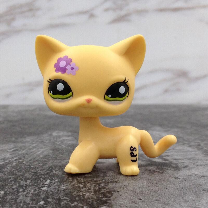 LPS Littlest Pet Shop 1962 Flower Yellow Shorthair Cat Birthday Christmas Gift